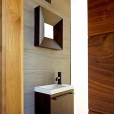 Contemporary Powder Room by De Mattei Construction