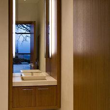 Modern Powder Room by De Meza + Architecture