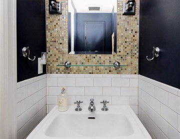 Powder Room Design - Brownstone Renovation   Jersey City, NJ