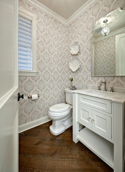 Traditional Powder Room by Design By Lisa