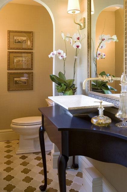 Eclectic Powder Room by Petrella Designs, Inc.
