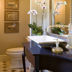 eclectic powder room by Petrella Designs, Inc.