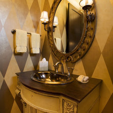 Eclectic Powder Room by DESIGNS! - Susan Hoffman Interior Designs