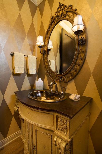 Eclectic Powder Room by DESIGNS! - Susan Hoffman Interior Designs