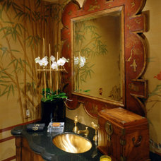 Asian Powder Room by Donna Livingston Design