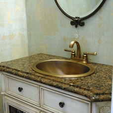 Traditional Powder Room by Echelon Custom Homes