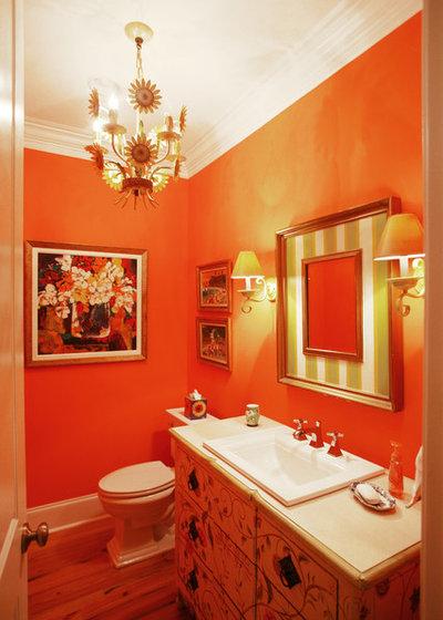 Eclectic Powder Room by Echelon Custom Homes