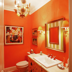 eclectic powder room by Echelon Custom Homes