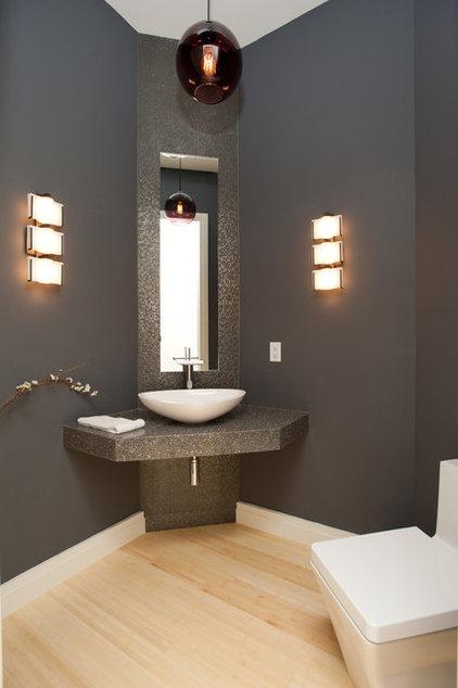 Contemporary Powder Room by Eddy Homes