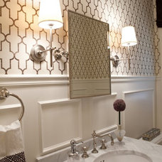 Transitional Powder Room by Elizabeth Reich