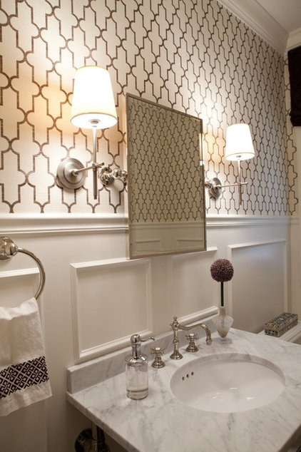 traditional powder room by Elizabeth Reich
