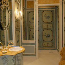 Traditional Powder Room by Erdreich Architecture, P.C.