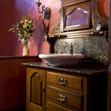 Traditional Powder Room by Gabberts Design Studio