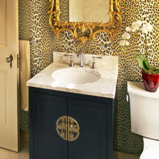 Eclectic Powder Room by Gabberts Design Studio