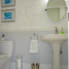 Traditional Powder Room by Elizabeth Roberts Design