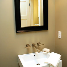 Modern Powder Room by Green Apple Design