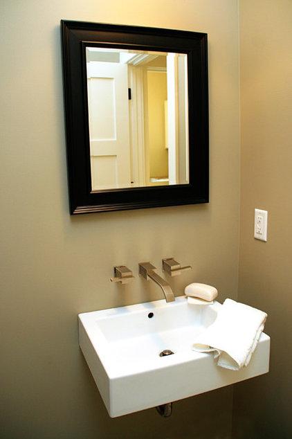 Modern Powder Room by Green Apple Design