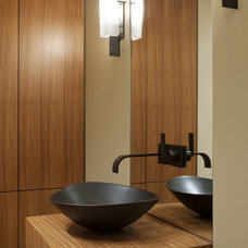 Contemporary Powder Room by Gregory Carmichael