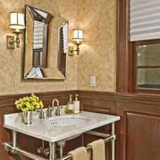 Traditional Powder Room by Gustavson Dundes