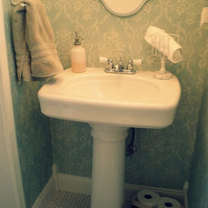 Traditional Powder Room by From House to Home