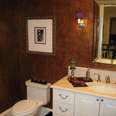Traditional Powder Room by Letitia Holloway