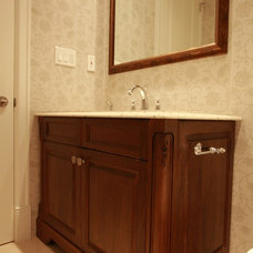 Traditional Powder Room by I love Kitchens