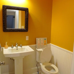 traditional powder room powder room