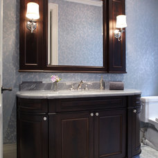 Traditional Powder Room by Harvest House Craftsmen
