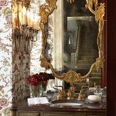 Traditional Powder Room by Indicia Interior Design
