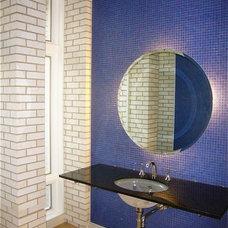 Contemporary Powder Room by InterDesign Studio