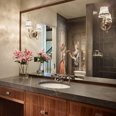 powder room by Janof Architecture