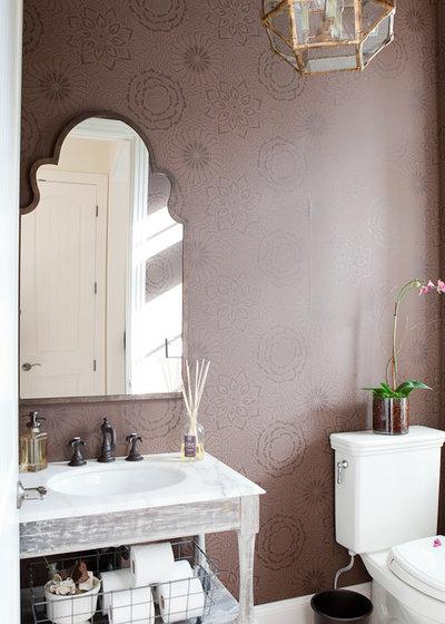 Shabby-chic Style Powder Room by Jenny Baines, Jennifer Baines Interiors