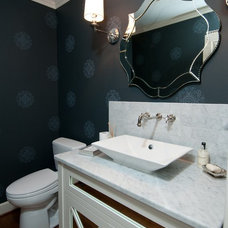 eclectic powder room by Jenny Baines, Jennifer Baines Interiors