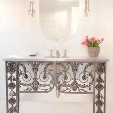 Modern Powder Room by Jill Podell Interiors