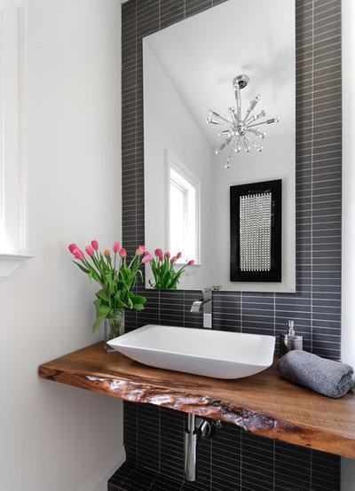 Contemporary Powder Room by Jodie Rosen Design