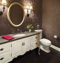 traditional powder room by KannCept Design, Inc.