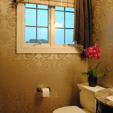Traditional Powder Room by Karlene Hunter Baum, Allied ASID