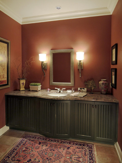 Salmon color bath design ideas pictures remodel decor for Salmon bathroom ideas