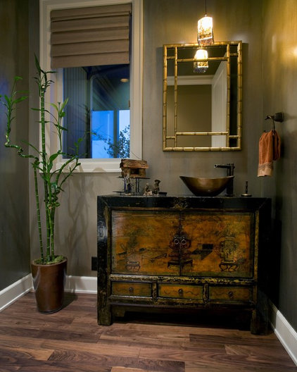 Contemporary Powder Room by Kaufman Homes, Inc.