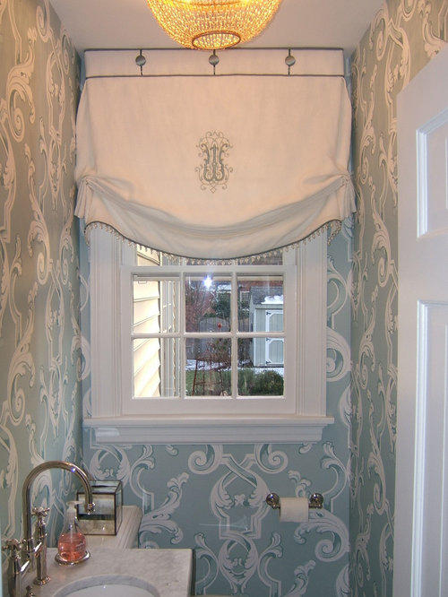 Monogrammed Window Treatment Home Design Ideas Pictures