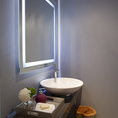 contemporary powder room by Leslie Goodwin Photography