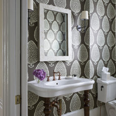 Traditional Powder Room by lily mae design