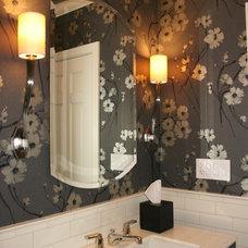 Traditional Powder Room by LJL Design llc