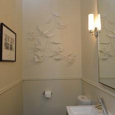 Modern Powder Room by m a palumbo studio