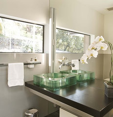 contemporary powder room by Mark English Architects, AIA