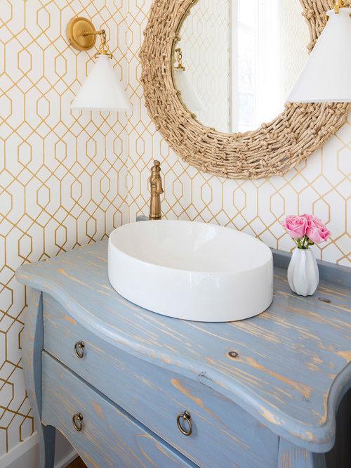 Photos et id es d co de wc et toilettes bord de mer avec un wc s par - Idee deco toilet in grijs ...