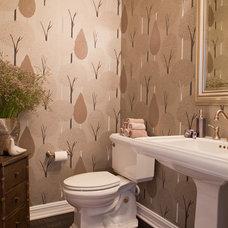 Traditional Powder Room by Megan Crane Designs, Inc.