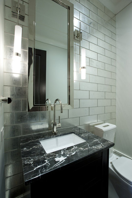 Contemporary Powder Room by Michael Abrams Limited