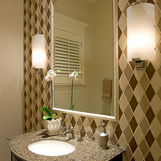Traditional Powder Room by Michael Abrams Limited