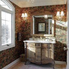 Traditional Powder Room by Michael Sisti